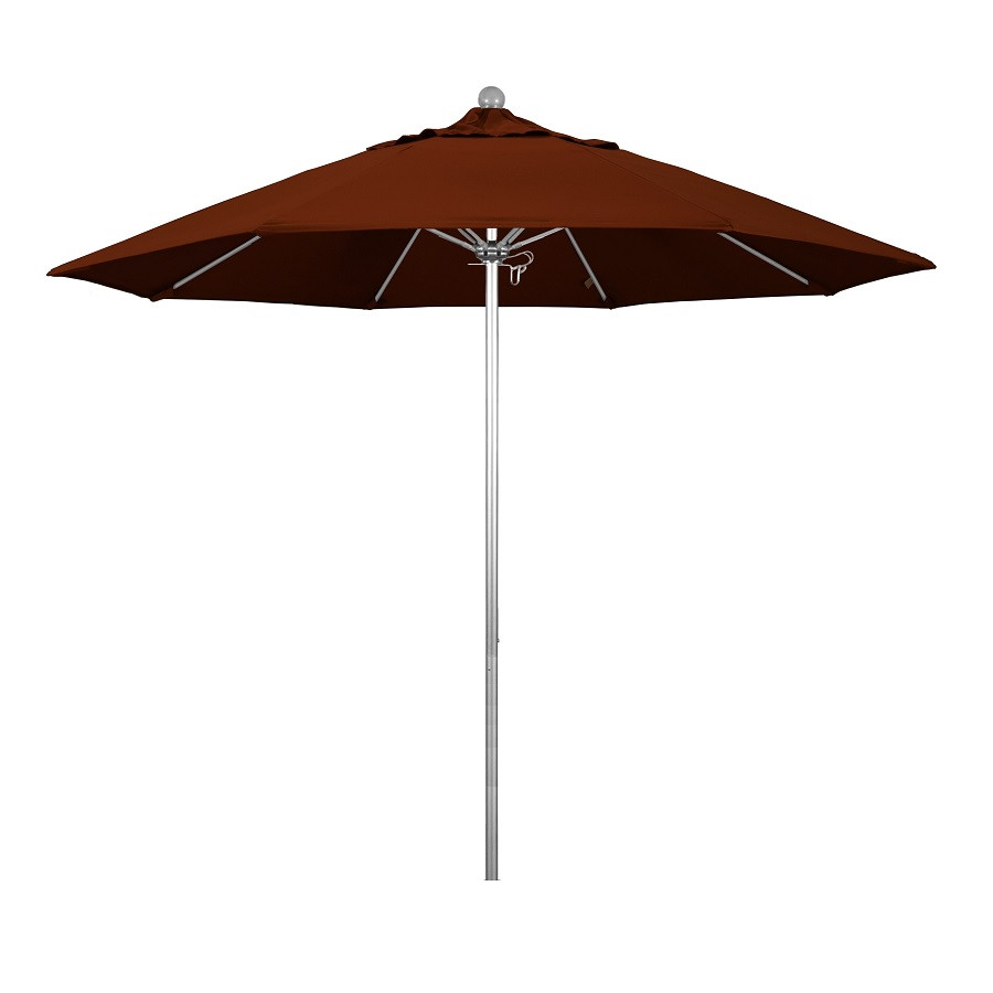 Phat Tommy 9 Ft Silver Anodized Commercial Patio Market Umbrella