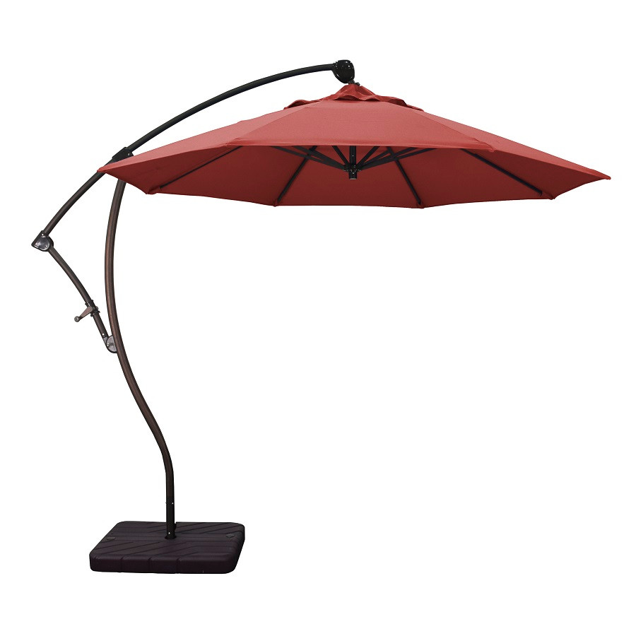 Phat Tommy 9 Ft Cantilever Offset Aluminum Market Patio Umbrella with Tilt – For Shade and Outdoor Living