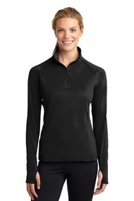 Sport-Tek Ladies Sport-Wick Stretch 1/2-Zip Pullover.