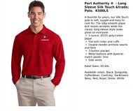 Port Authority Long Sleeve Polo