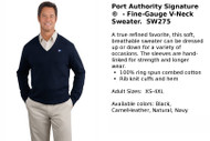 Port Authority Fine Gauge V-Neck Sweater