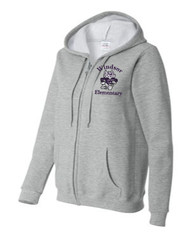 WPTO-18600FL Ladies Full Zip Hooded Sweatshirt