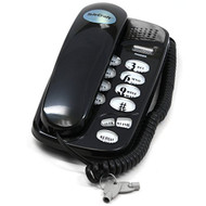 Telecraft Wall Mountable Trim Phone Black Telephone - EE676091