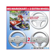 Mario Kart 8 Nintendo Wii U With Original Wheel And 2 Extra Wheels - ZZ676951