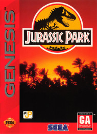 Jurassic Park For Sega Genesis Vintage With Manual and Case - EE678951