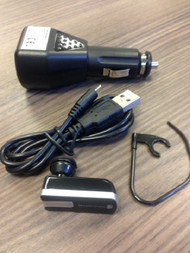 Iessentials IE-HFBLU-FP1 With USB Car Adapter Charger Black - EE682047