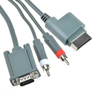 HD VGA Audio Video Cable 6 Feet For Xbox 360 Gray 718924469383 Grey - EE687700