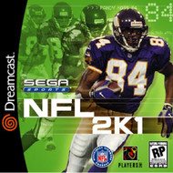 NFL 2K1 For Sega Dreamcast Football With Manual And Case - EE687994