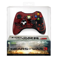 Gears Of War 3 Controller Special For Xbox 360 Remote Gamepad Red - EE688136