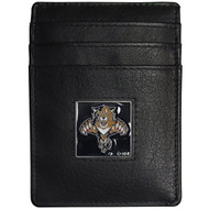 Florida Panthers Leather Money Clip/cardholder Packaged In Gift Box - EE689309