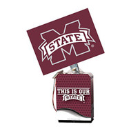 "NCAA Mississippi State Bulldogs Adult Solar Buddy 6.5"" X 4"" Red - EE690920"