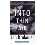 Into Thin Air By Krakauer Jon Krakauer Jon Reader On Audio Cassette - EE693740