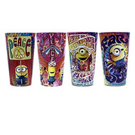 Silver Buffalo DM031P6 Universal 4 Piece Despicable Me Tye Dye Full - EE696545