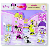Melissa And Doug Disney Minnie Mouse And Friends Wooden Chunky Puzzle  - EE698717