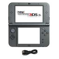 New Nintendo Model 3DS XL Black Handheld Console And AC Adapter - ZZ699643