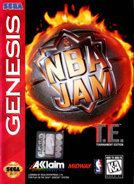 NBA Jam For Sega Genesis Vintage Basketball With Manual and Case - EE699661