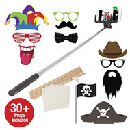 Bluetooth Selfie Photo Booth With 30 Props Black Wireless Etselfieppb - EE700229