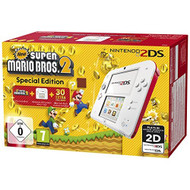 Nintendo 2DS Console White And Red Rouge And New Super Mario Bros 2 - EE702334