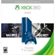 Microsoft Xbox 360 E 500GB Console Blue COD BO2 Bundle - EE704913