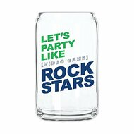 "Video Game Rock Stars"" 16 Oz Glass Can By 30 Watt - EE705333"