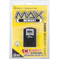Datel Max Memory Flash Memory Module 32 MB Sony Memory Card Black For - EE705386