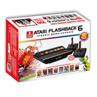 Atari Flashback 6 Classic Game System With 100 Games Console Black - EE706576