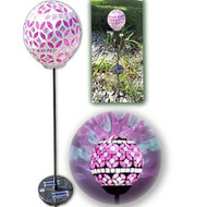Vzost Gorgeous Rosy Pink Solar Mosaic Light With Color Changing Glass - EE706824