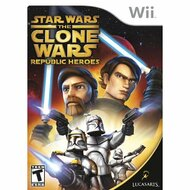 Star Wars The Clone Wars: Republic Heroes For Wii With Manual and Case - EE707009