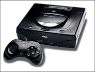 Sega Saturn System Video Game Console Black Home - EE708024