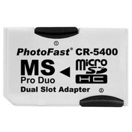 Photofast CR-5400 Microsd To Ms Pro Duo Adapter Dual Slot - EE708384