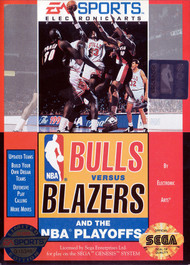 Bulls Vs Blazers And The NBA Playoffs For Sega Genesis Vintage - EE709293