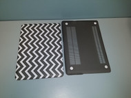 """Black And White Chevron Snap On Protective Plastic For Macbook Air 13"""" - EE709793"""