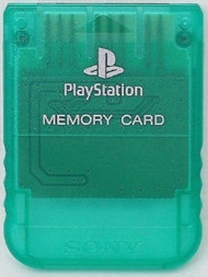 PlayStation Psone Memory Card Emerald Green SCPH-1020 For PlayStation  - EE709906