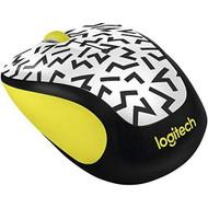 Logitech M325C Wireless Mouse Yellow Zigzag 910-004689 White Mini DLX3 - EE711541