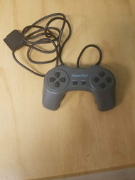 Performance P-101 Superpad Gamepad Controller For PlayStation PS1 Gray - EE711673