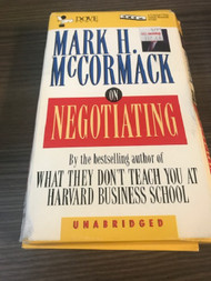 Mccormack: On Negotiating By Mark Mccornack On Audio Cassette - EE712299