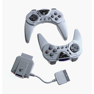 Advance Wireless Controners For PlayStation 1 PS1 Gray WUN190 - EE716486
