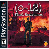 Sony C-12 Final Resistance For PlayStation 1 PS1 With Manual and Case - EE716491
