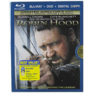 Robin Hood Three-Disc Unrated Director's Cut Blu-Ray/dvd Combo On Blu - EE716790