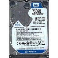 WD7500BPVT-00A1YT0 Dcm: Hhctjhb WXD1C Western Digital 750GB - EE717002