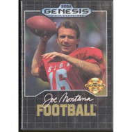 Joe Montana Football For Sega Genesis Vintage With Manual and Case - EE717108