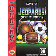 Jeopardy: Sports Edition For Sega Genesis Vintage Trivia With Manual - EE717111