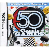 50 Classic Games For Nintendo DS DSi 3DS 2DS Board Games - EE717524