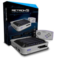 Hyperkin Retron 5 Retro Video Gaming System Console Gray Newest - EE719450