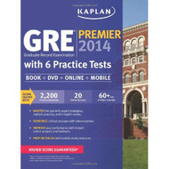 Kaplan Gre Premier 2014 With 6 Practice Tests: Book Online DVD Mobile - EE721287