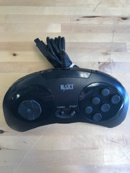 Naki 6 Button Controller Gamepad Vintage For Sega Genesis Black GQW117 - EE721368