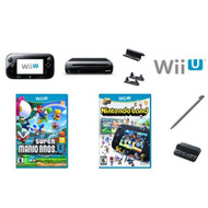 Black 32 GB Nintendo Wii U Deluxe Set With New Super Mario Bros U And - ZZ723074