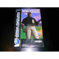Frank Thomas Big Hurt Baseball For Sega Saturn Vintage - EE562569