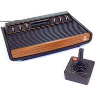 Rare Sears Tele-Games Atari 2600 Heavy Sixer Console Black Home IIH158 - EE725137
