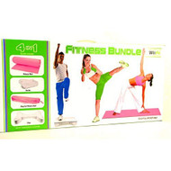 4 In 1 Wii Fit Fitness Bundle Includes Mat Step Textured Socks And - ZZ727581